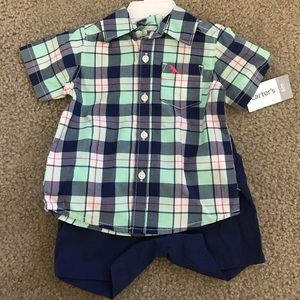 Baby boys cute carters 2pc outfit size 6m